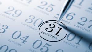 December 31 circled on calendar
